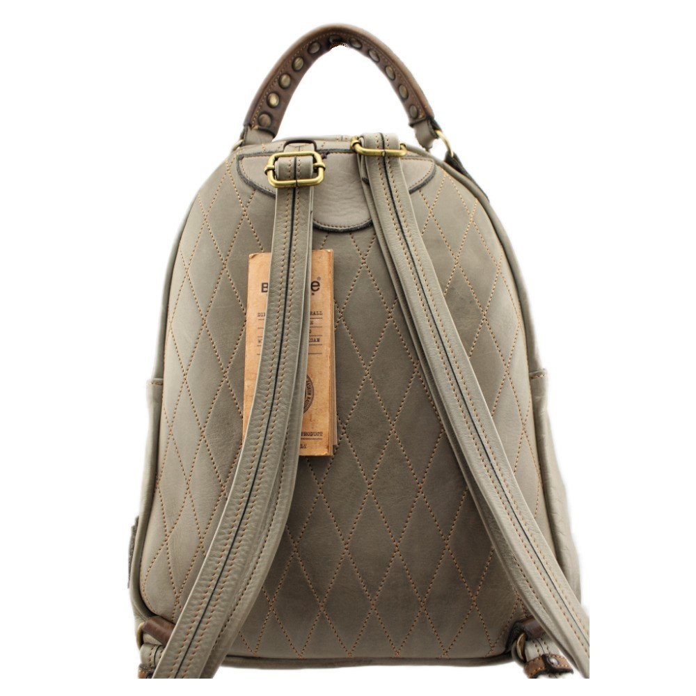 Details about  /Bayside Backpack Leather Colour IN Capo Made IN Italy BS 250 Patch Rock